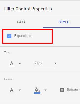 Google Data Studio - Filtrace