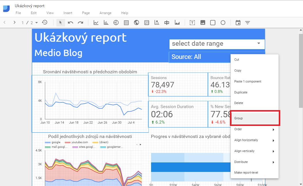 Google Data Studio - Group