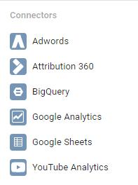 Google Data Studio - Konektory