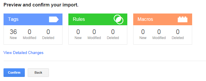 Google Tag Manager Import