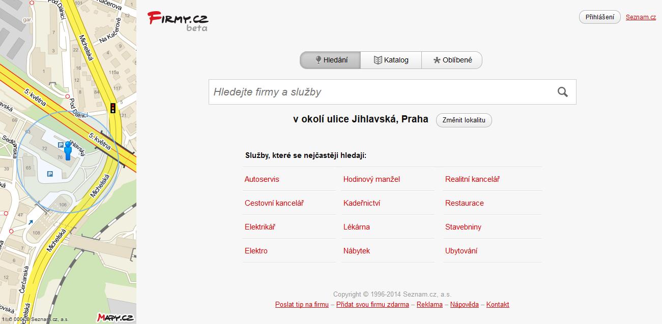 homepage - firmy beta