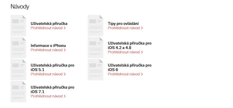 Návody produktů na Zboží.cz
