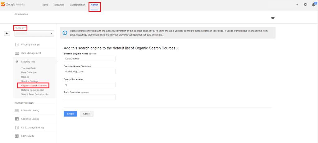 Přidat vyhledávač do Google Analytics
